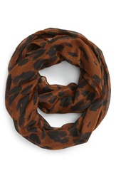 Bp Leopard Print Infinity Scarf Brown Multi