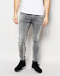 Pepe Jeans Powerflex Nickel Superstretch Skinny Fit Washed Grey Grey