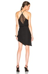 Mason By Michelle Mason Chiffon Panel Dress In Black