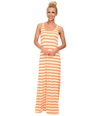 Kavu Minnie Maxi Dress Firewater Women's Dress Orange