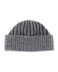 Portolano Two Tone Ribbed Hat Pwdr Blu D