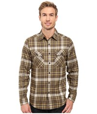 Royal Robbins Performance Flannel Plaid Long Sleeve Shirt Cypress Men's Long Sleeve Button Up Green