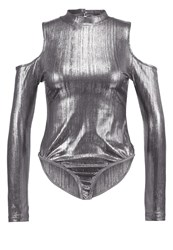 Glamorous Long Sleeved Top Silver