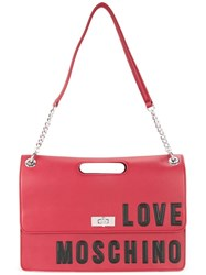 Love Moschino Logo Shoulder Bag Red