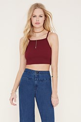 Forever 21 Cotton Blend Cropped Cami