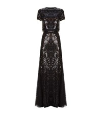 Bcbgmaxazria Maris Sequin Two Piece Gown Female Black