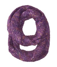 Echo Boucle Loop Black Plum Scarves Purple