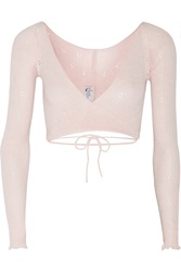 Ballet Beautiful Belle Wrap Front Knitted Jersey Top