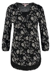 Anna Field Long Sleeved Top Black White