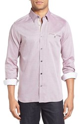 Ted Baker Men's London 'The Funk' Trim Fit Sport Shirt Red