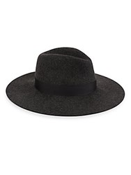 Saks Fifth Avenue Wool Spun Fedora Hat Black