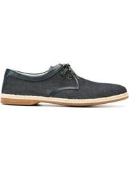 Dolce And Gabbana Espadrille Style Derby Shoes Blue