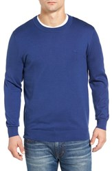 Lacoste Men's Jersey Knit Crewneck Sweater Waterfall Blue
