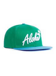 Topman Green And Blue Aloha Snapback Cap