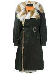 Mr And Mrs Italy Long Length Belted Coat Green