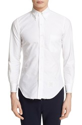Thom Browne Men's Trim Fit Long Sleeve Distressed Oxford Shirt