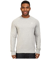 Nike Sb Everett Crew Top Dark Grey Heather White Men's Long Sleeve Pullover Gray