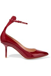 Francesco Russo Patent Leather Pumps Burgundy
