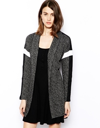 Noisy May Snake Printed Oversized Blazer Grey