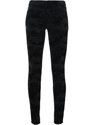 J Brand 'Super Skinny' Camouflage Trousers Black
