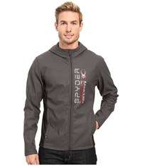 Spyder Delta Full Zip Hoodie Polar Black Red Men's Fleece