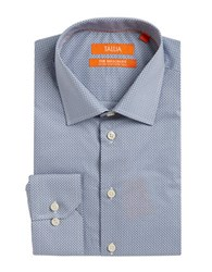 Tallia Orange Printed Cotton Dress Shirt Navy