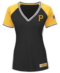 Majestic Women's Pittsburgh Pirates League Diva T Shirt Black Gold