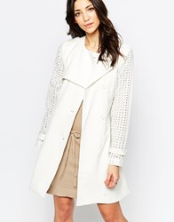 Lavand Belted Lightweight Trenchcoat White