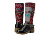 Spring Step Fuzzy Black Women's Pull On Boots