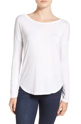 Paige Women's 'Bess' Stretch Jersey Boatneck Tee Optic White