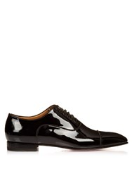 Christian Louboutin Greggo Patent Leather Lace Up Shoes Black