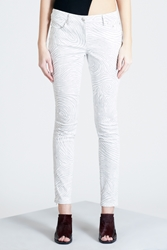 Opening Ceremony Fingerprint Skinny Jeans Light Grey Multi