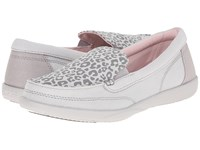 Crocs Walu Ii Leopard Print Loafer Light Grey Pearl White Women's Slip On Shoes