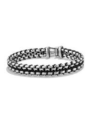 David Yurman Chain Collection Sterling Silver Bracelet Black
