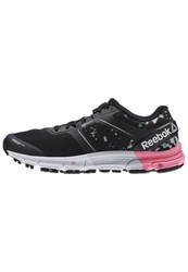 Reebok One Cushion 3.0 Cg Neutral Running Shoes Black Poison Pink White