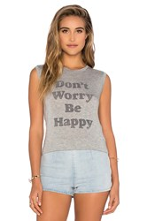 Daydreamer Don't Worry Be Happy Tank Gray