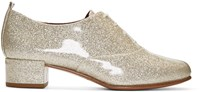 Marc Jacobs Silver Glitter Betty Oxfords