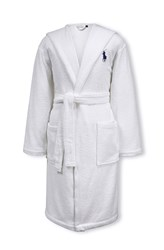 Ralph Lauren Home Player Bath Robe White