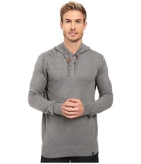 Prana Throw On Hooded Sweater Gravel Men's Clothing Silver