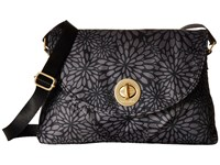 Baggallini Gold Nassau Crossbody Pewter Floral Cross Body Handbags Black