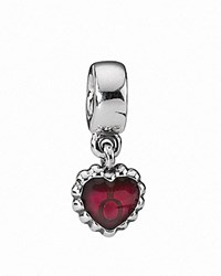 Pandora Design Pandora Dangle Charm Sterling Silver And Enamel Pandora Forever Moments Collection Silver Red
