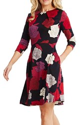 Donna Morgan Women's Floral Print Scuba Fit And Flare Dress