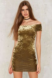 After Party By Nasty Gal Crushing Hard Velvet Dress Green