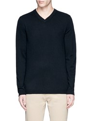 Ink V Neck Cashmere Sweater Black