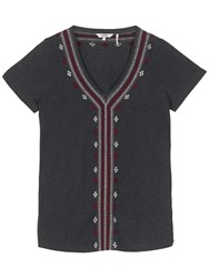 Fat Face Embroidered Top Phantom