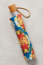 Anthropologie Kaleidoscope Umbrella Yellow