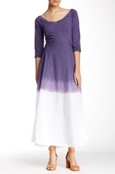 Luna Luz V Neck Dip Dye Maxi Dress Purple
