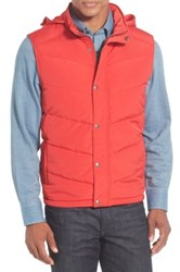 Nordstrom Quilted Down And Feather Fill Vest Red
