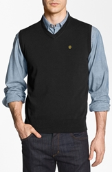 Victorinox 'Suisse' Tailored Fit Sweater Vest Online Only Black