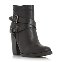 Head Over Heels Posey Strappy Western Boots Black
